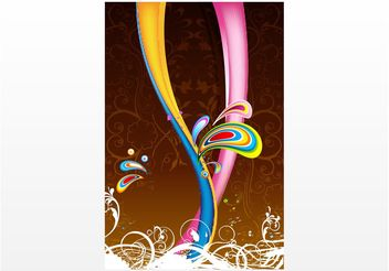 Poster Template Vector - Free vector #159299
