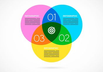 Free Vector Watercolor Venn Diagram Infographic - Free vector #159459
