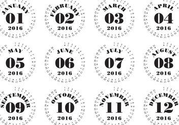 Typographic Calendar 2016 - Free vector #159469