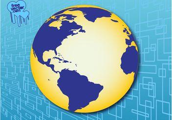 Americas Globe - Free vector #159659