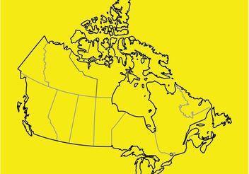Canada Vector Map - Kostenloses vector #159669