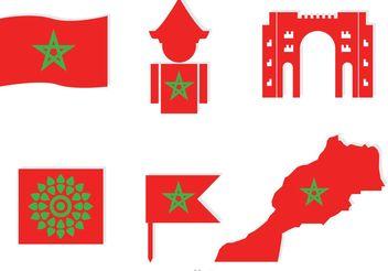 Morocco Element Icons Vector - Kostenloses vector #159719