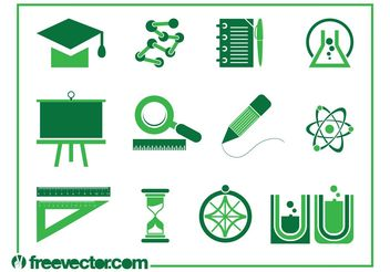 Education Icons Vectors - Free vector #159749