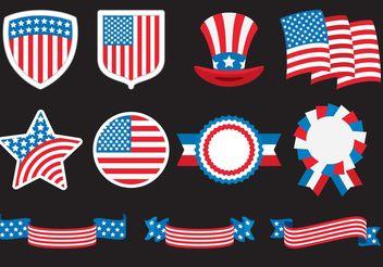 American Badges - Kostenloses vector #159929