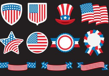 American Badges - vector #159929 gratis