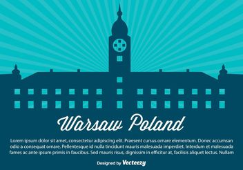 Warsaw Poland Silhouette Illustration - vector gratuit #159969