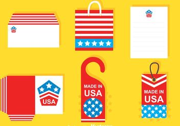 Mockup Vectors Made In Usa - vector gratuit #159979