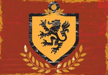 Lion Shield Coat of Arms - vector #159989 gratis