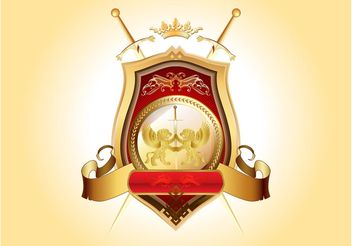 Golden Blazon Vector - Kostenloses vector #160029