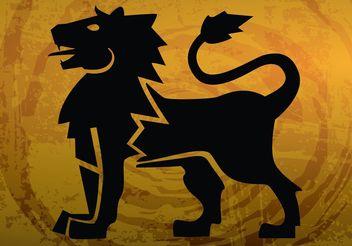 Heraldic Lion - Free vector #160079