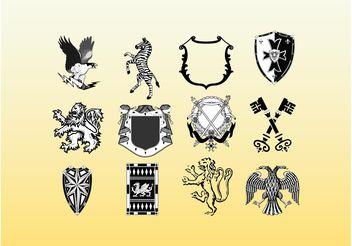 Medieval Heraldry - Free vector #160129