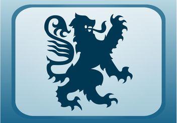 Heraldic Lion Vector - Free vector #160139