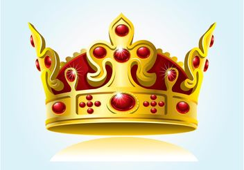 Sparkling Crown Graphic - бесплатный vector #160189