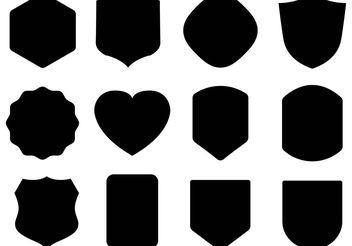 Free Black Shield Vectors - Kostenloses vector #160199