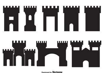 Vector Fortress Shapes - vector gratuit #160379