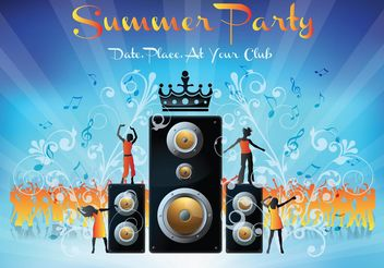 Summer Party - vector gratuit #160439