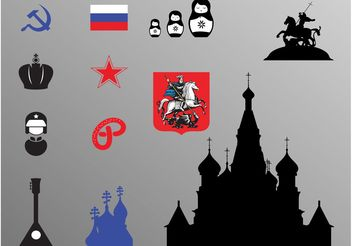 Russian Icons - vector #160499 gratis