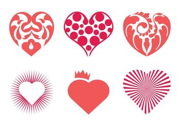 Vector Hearts Set - Free vector #160569
