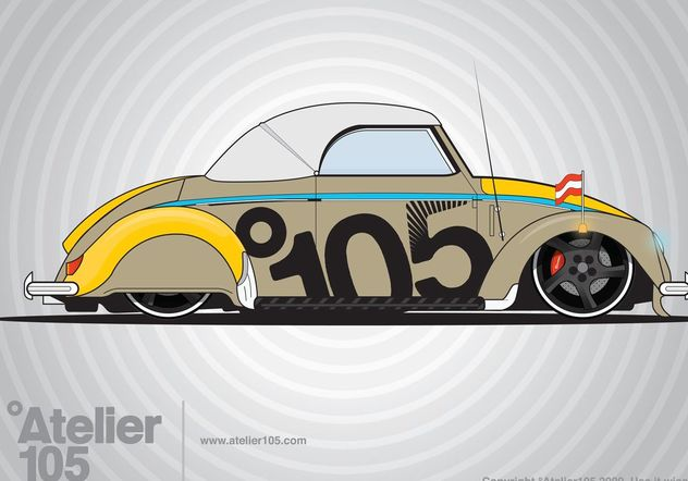 Volkswagen Beetle Graphics - бесплатный vector #160649