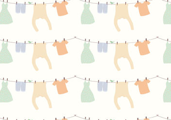 Clothes Pattern Background - Kostenloses vector #160779