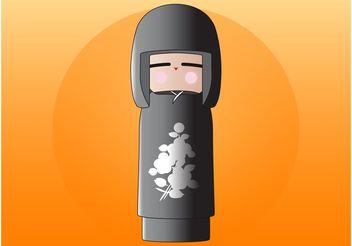 Kokeshi Doll - Free vector #160979