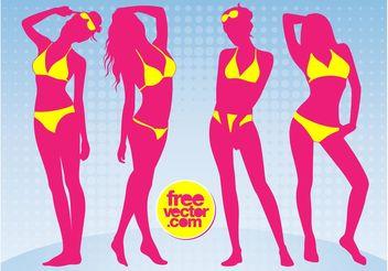 Bikini Girls - vector #161219 gratis