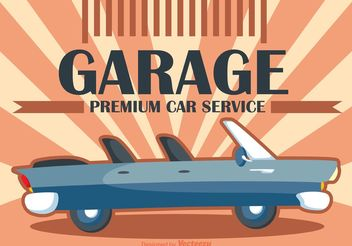 Poster Cars Retro Vector - Free vector #161289