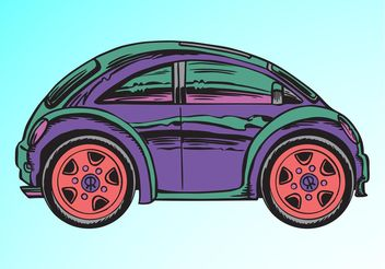 Cartoon Car - vector gratuit #161369