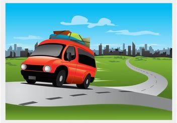 Road Trip Illustration - vector gratuit #161429