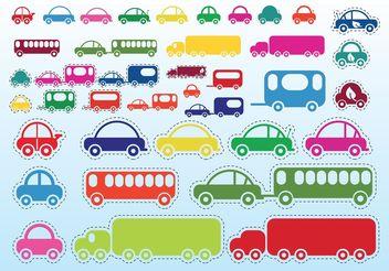 Car Bus Truck - Kostenloses vector #161489