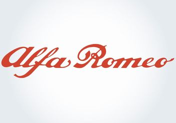 Alfa Romeo - vector gratuit #161499