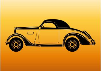 Vintage Car Outlines - vector gratuit #161699