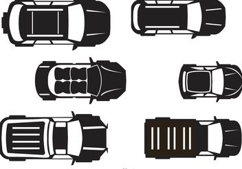 Cars Topview Vector - Free vector #161709
