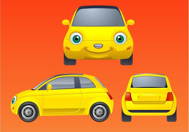 Smiling Car - vector gratuit #161789