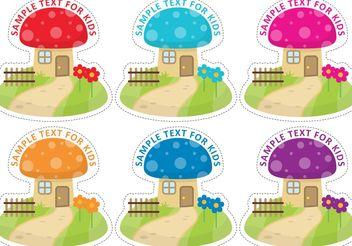 Gnome Mushroom House Vectors - Free vector #161829