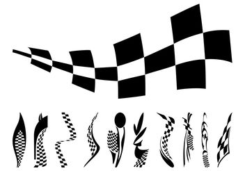 Racing Flags Graphics - vector gratuit #161909