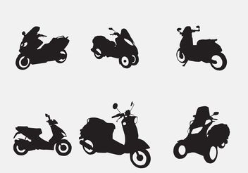 Vector Motorcycles and Scooters - Free vector #161939