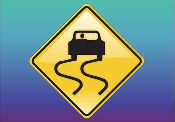 Slippery Sign - vector gratuit #162089