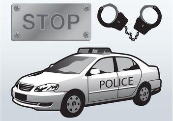 Police Arrest Vector - Free vector #162129