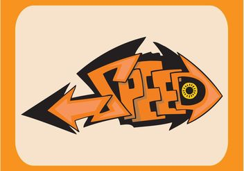 Speed Graffiti Piece - vector gratuit #162169