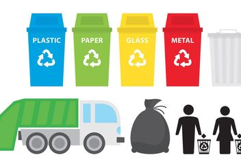 Trash Icons - vector #162189 gratis