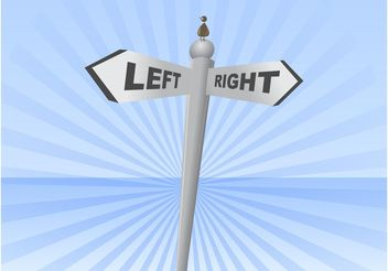 Left Right Sign - vector gratuit #162299
