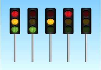 Traffic Lights - Kostenloses vector #162309