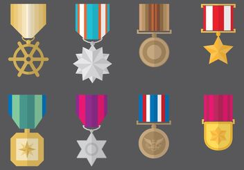 Military Medal Vectors - vector #162369 gratis
