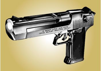 Desert Eagle Pistol - Free vector #162449