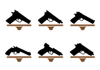 Gun Shape Collection - Free vector #162499
