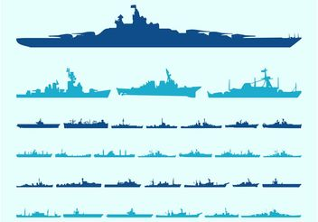 Ship Silhouettes Graphics - Kostenloses vector #162539