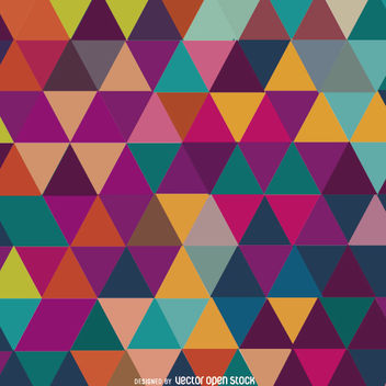 Triangle mosaic colorful background - Free vector #162659