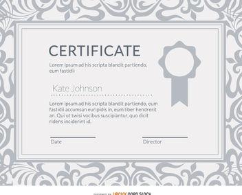 Elegant diploma certificate - Free vector #162719