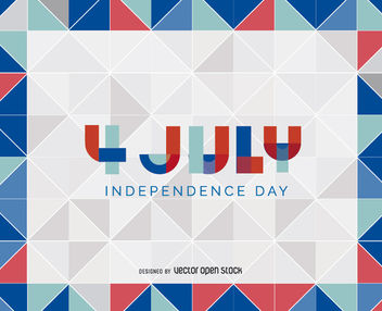 4th of july triangle background - Free vector #162729